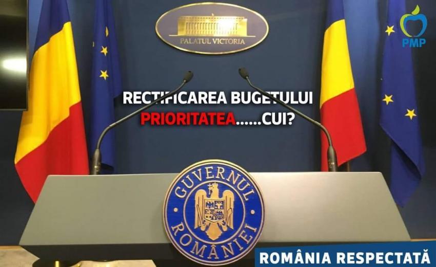 PMP: Rectificare bugetară pentru țară, nu pentru primarii liberali!