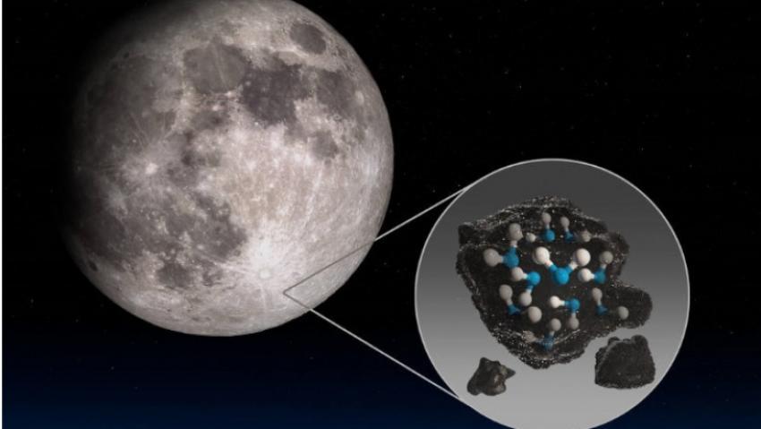 NASA a confirmat în premieră, prezenţa apei pe faţa vizibilă a Lunii
