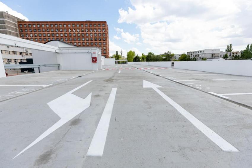 Parcare cu heliport la Spitalul Județean din Galați