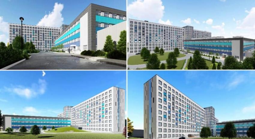 O clădire modernă se construiește în curtea Spitalului Județean din Galați. Imobilul va avea mai multe întrebuințări