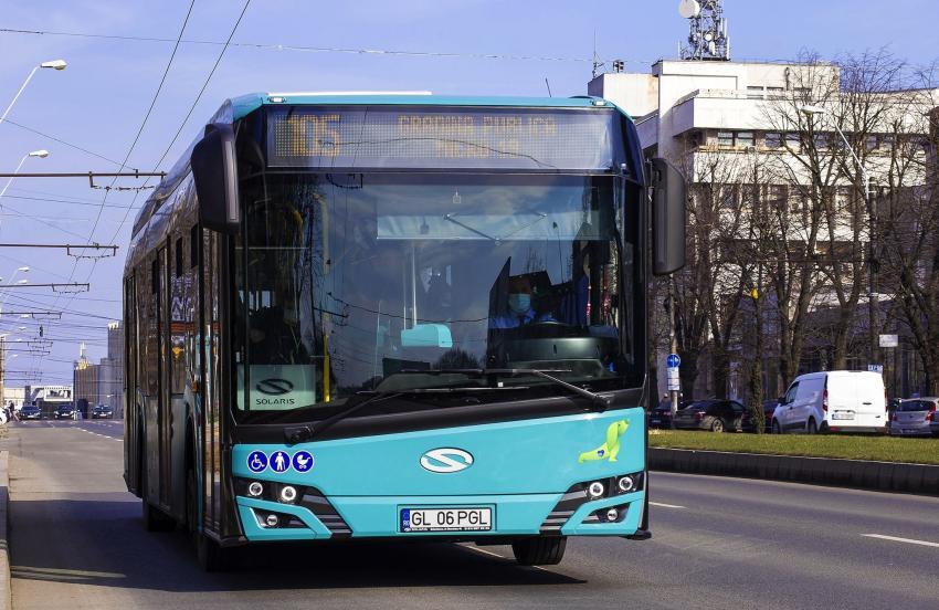 Transport eco pe străzile orașului Galați. În parcul auto Transurb a ajuns tot lotul de autobuze hibrid
