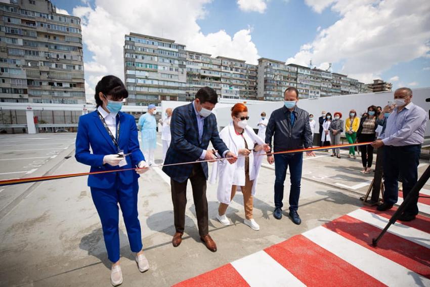 Prima parcare supraetajată din orașul Galați a fost inaugurată